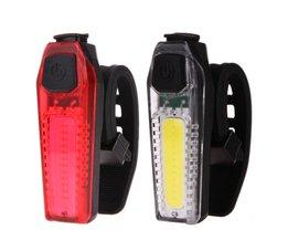 Fietslicht Fiets Waterdichte Fietsen Achterlicht Super Licht Met USB Oplaadbare Veiligheid Night Riding Veiligheid Achter Waarschuwingslampje