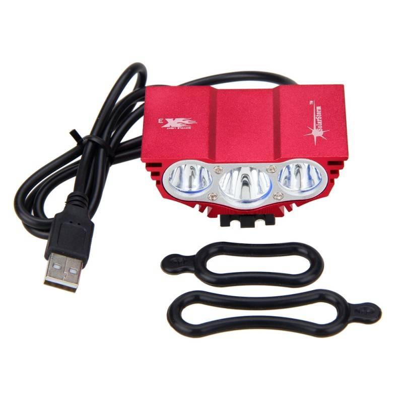 Fietsen Led-verlichting USB 10000LM LED Fiets Koplampen 3XT6 XM-L LED Fiets Licht met Batterij + Lad
