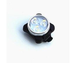 2 Kleur Beschikbaar 4 Modi Fiets waarschuwingslampje/USB Oplaadbare fietsen Fiets 3LED Head Voor Achter Staart Clip Licht Lamp