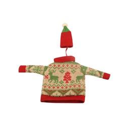 MyXL Kerst trui wijnfles Cover Tas Ornament Kerst Diner Tafel Xmas Decoratie Kleren met Hoeden Home Party Decors