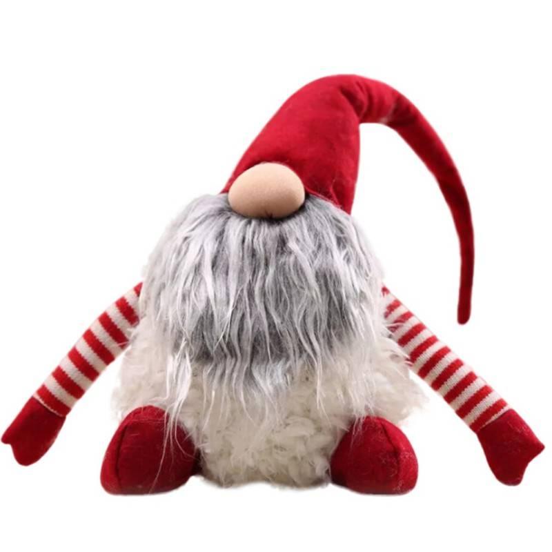 Handgemaakte Zweedse Kerst tomte-nisse Kerstman Decoratie Pluche Xmas Grappige Gnome Pluche-Kerst Ki