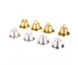 10 Stks Metal Bells Kleine Bel Sieraden Ornamenten Kerstversiering Hangers DIY kerstboom klokken