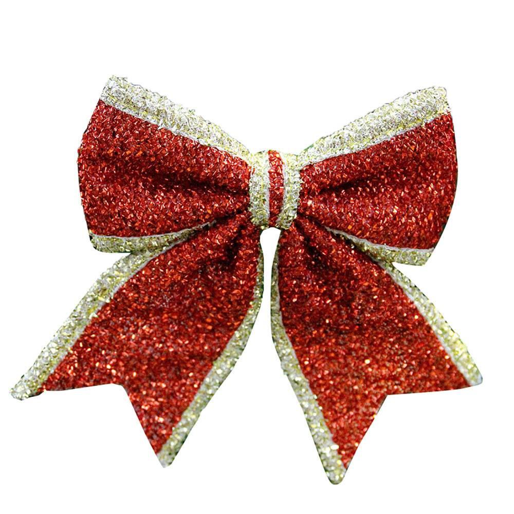 3 STKS boog-knoop Ornament Vrolijk Kerst Xmas Tree Decoratie thuis Festival Party Accessoires kerstb
