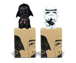 Star Wars Darth vader Stormtrooper PVC Model Action Figure Black Warrior Clone Trooper Speelgoed Originele Doos 2 stks