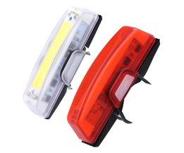 100 lumen USB Oplaadbare Fiets Voor Achter LED Achterlichten Waterdicht 6 Modi COB Waterbestendig Fietsverlichting
