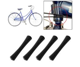 4 Stks/partij Fiets Kabel Rubber Protector Mouw Voor Shift Remleiding Pijp 2 Kleuren Ultralight Bike Frame Kabel Gidsen Bescherming