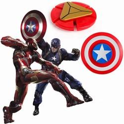 MyXL 2 stijlen Plastic Iron Man Fidget Spinner Captain America Shield Vinger Spinner EDC Hand Spinner Angst Stress Speelgoed