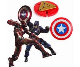 2 stijlen Plastic Iron Man Fidget Spinner Captain America Shield Vinger Spinner EDC Hand Spinner Angst Stress Speelgoed