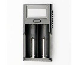 Multifunctionele Ion Batterij Oplader LCD Voor 26650 18650 18350 17670 14500 opladen batterij Scherm Show Voltage Baterijen Power