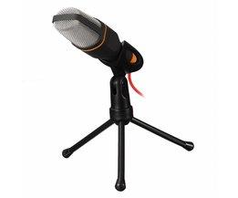 Professionele Stereo Microfoon 3.5mm Met Stand Clip Condensator Microfoon microfoon Voor PC Chatten Zingen Karaoke Laptop Mic