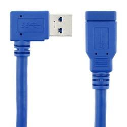 MyXL 90 Graden Links & Haaks Standaard USB 3.0 hoek Man naar vrouwelijke AM om AF Extension Connector Draad datakabel 30 cm 1ft 0.3 m