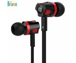 Briame JM26 Ear Oortelefoon Oordopjes Stereo Sport Hoofdtelefoon Geluidsisolerende Headset met Microfoon voor iphone Mobiele telefoon Universele