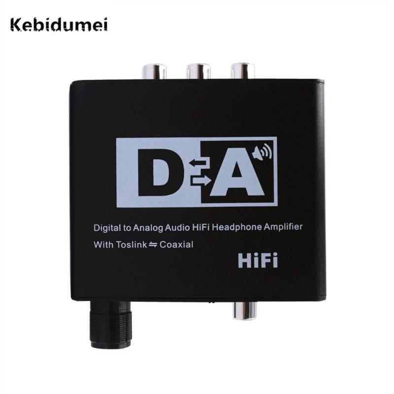 Kebidumei Digitale Optische Coax Toslink Signaal naar Analoog Audio HiFi Versterker Converter Adapte