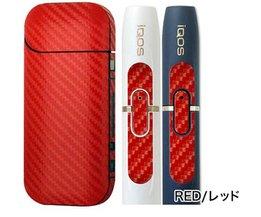 Zwart Rood Protector skin 3 M Adhesive printing label IQOS sticker carbon voor iqos serie en 2.4 plus