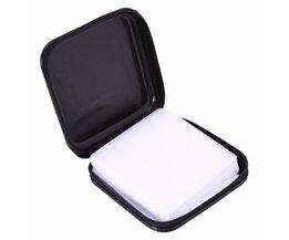 Diepe Blauw en Zwart Plastic 40 Disc CD DVD Houder Storage Cover Case Organizer Wallet Bag Album