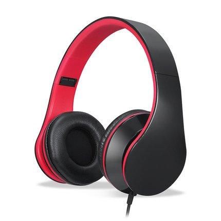 YTOM Wired Hoofdtelefoon met Microfoon Over Ear Stereo Headset Bass grote Oortelefoon voor PC Laptop