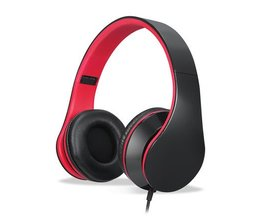 YTOM Wired Hoofdtelefoon met Microfoon Over Ear Stereo Headset Bass grote Oortelefoon voor PC Laptop Android telefoon MP3 MP4 PC computer