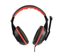 KEBIDU 3.5mm Verstelbare Game Hoofdtelefoon Stereo Muziek headphon ruisonderdrukking Computer PC Gamers Headset Met Microfoons