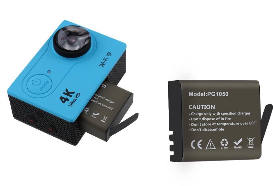 GEEKAM action camera acculader A9-S9-H9-H9R-H3R-H8R-Originele 900-1050 Milliampère batterij VOOR eke