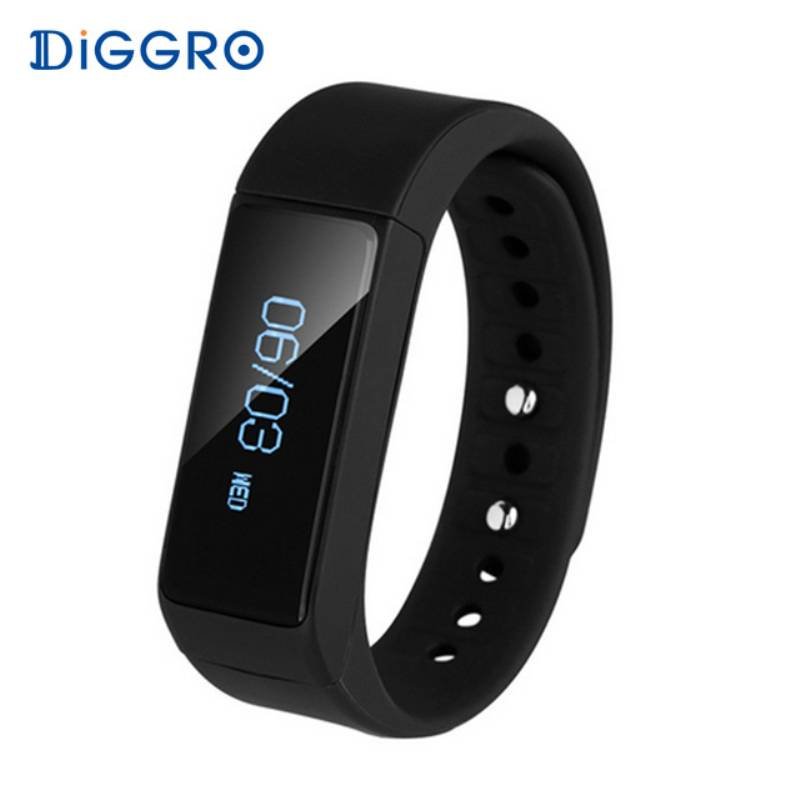 Smart Armband DIGGRO I5 Plus OLED Bluetooth 4.0 Stappenteller Stappen Tracking Calorie Gezondheid Po