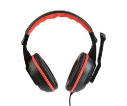 3.5mm Wired Hoofdtelefoon Over Ear Headset HiFi Geluid Muziek Stereo Oortelefoon Gaming Hoofdtelefoon Voor Laptop Desktop Game Drop