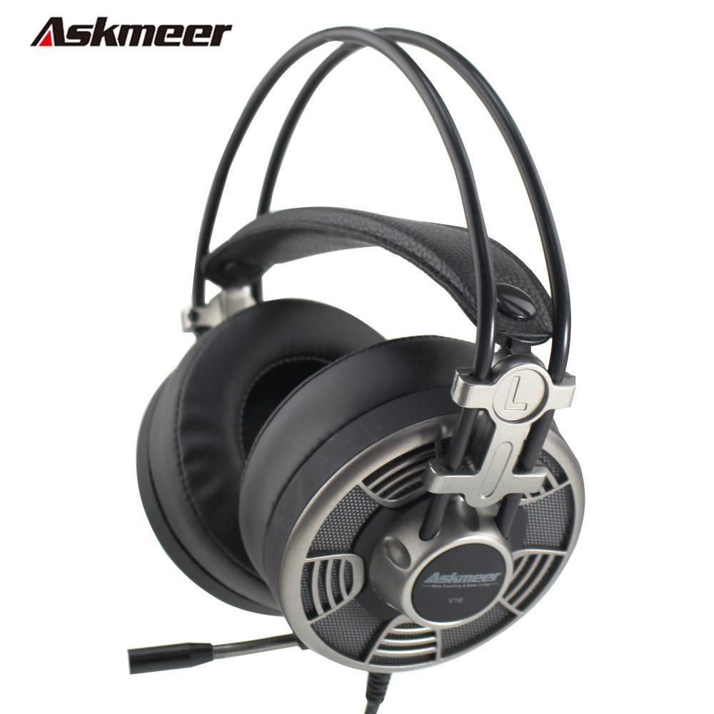 Askmeer V16 Computer USB Gaming Hoofdtelefoon Stereo Game Casque Headset Gamer voor PC Met Microfoon
