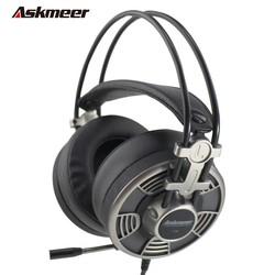 MyXL Askmeer V16 Computer USB Gaming Hoofdtelefoon Stereo Game Casque Headset Gamer voor PC Met Microfoon Mic Led Light Big Oorbeschermer