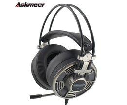 Askmeer V16 Computer USB Gaming Hoofdtelefoon Stereo Game Casque Headset Gamer voor PC Met Microfoon Mic Led Light Big Oorbeschermer