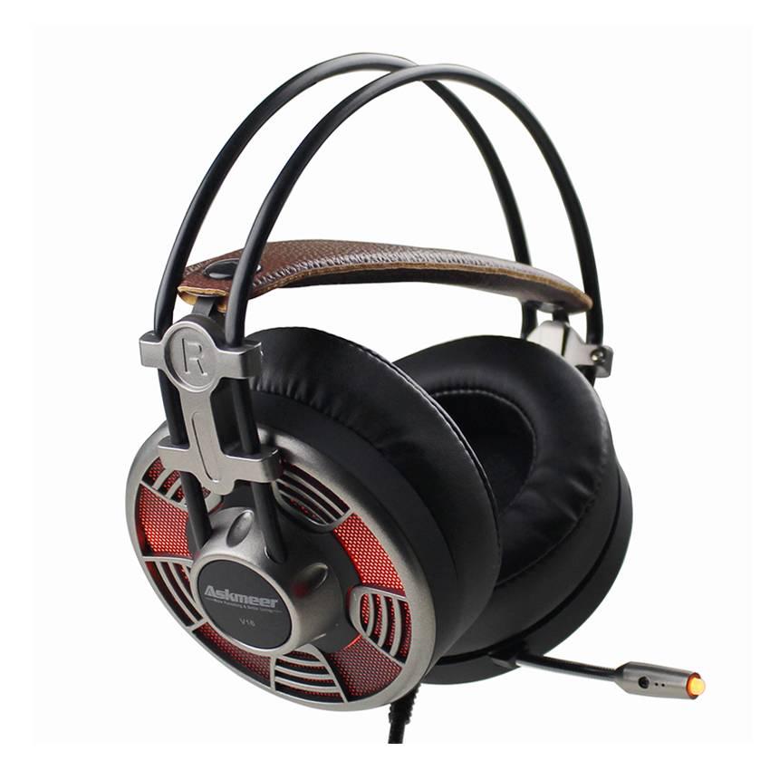 Askmeer V16 Gaming Hoofdtelefoon casque Super Grote Oorbeschermers Stereo USB Headset Gamer met Micr