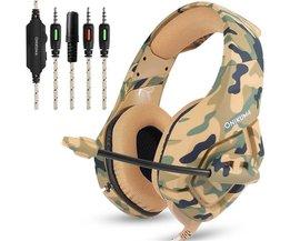 ONIKUMA K1 AUX 3.5mm Camouflage Headset Bass Gaming Hoofdtelefoon Game oortelefoon Casque met Mic voor PC Mobiele Telefoon Xbox Een Tablet