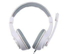 Lupuss G1 Wired Hoofdtelefoon met Microfoon Verstelbare Over Ear Gaming Headsets Koptelefoon Lage Bass Stereo voor PC