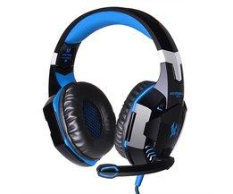 KOTION ELKE G2000 Diepe Bass Game Hoofdtelefoon Stereo Omgeven Over-Ear Gaming Headset Hoofdband Oortelefoon met Licht voor PC Gamer