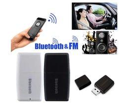 2 in 1 Draadloze Bluetooth V4.1 + EDR 3.5mm Muziek Audio Receiver A2DP Stereo Auto Fm-zender L3FE