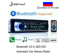 Autoradio Bluetooth met Aux, USB en SD kaart