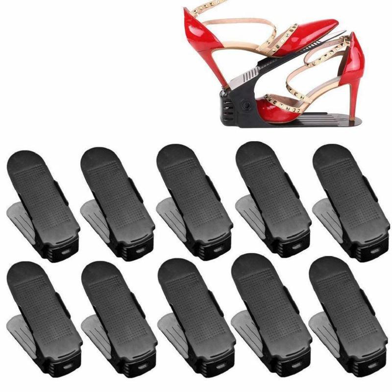 MyXL Schoenen Houder Verstelbaar Plastic Set 10 Stuks