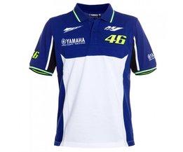 Valentino Rossi VR46 T-shirt voor Yamaha M1 dual Moto GP Monza Katoen korte Mouw T-shirt Blauw Wit
