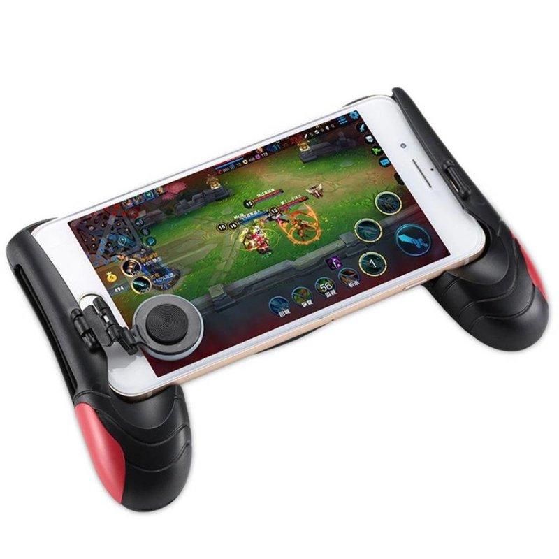 MyXL F1 Gamepad Zwart + Rood Game controller Telefoon Analoge Joystick Grip voor Alle Android & iOS SmartPhone Spelen PUBG-zoals, FPS Games