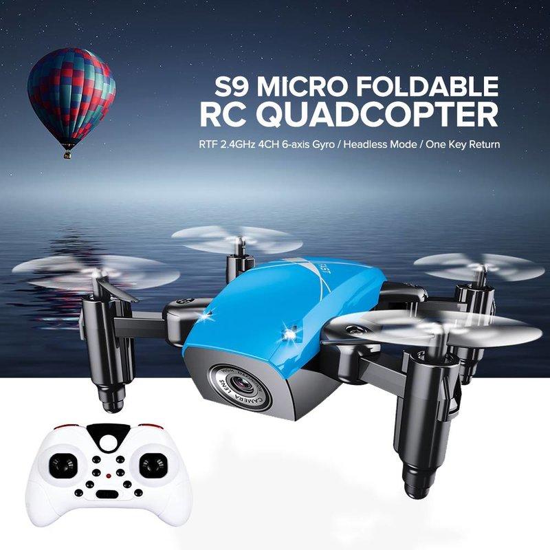 MyXL S9 S9W S9HW Opvouwbare RC Mini Drone Pocket Drone Micro Drone RC Helicopter Met HD Camera Hoogte Houden Wifi FPV FSWB Pocket Dron
