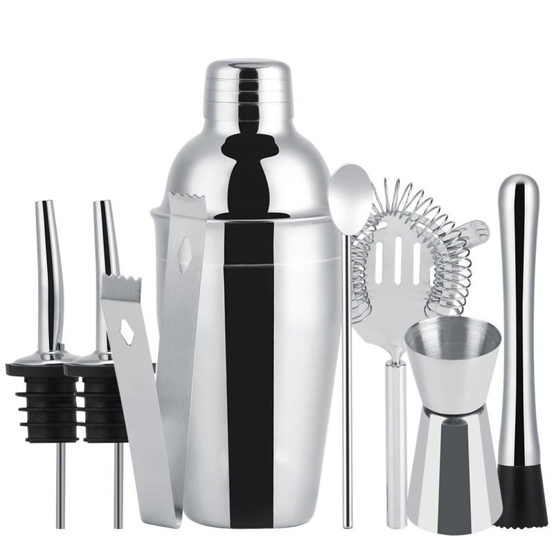 MyXL 8 stks 550 ml Rvs Cocktail Shaker Set Mixer Bar Drinken Barman Tool Huisbrouwerij Bar Accessoires