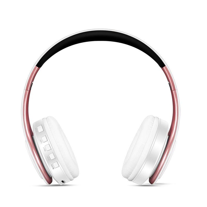 MyXL Gratis verzendingGoud kleuren Bluetooth Hoofdtelefoon Draadloze Stereo Headsets oordopjes met Microfoon/Tf-kaart