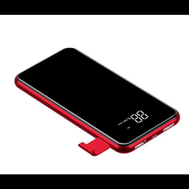MyXL Baseus LCD 8000 mAh QI Draadloze Oplader 2A Dual USB Power Bank voor iPhone X 8 Samsung S9 Acculader 5 W Draadloze Opladen Pad