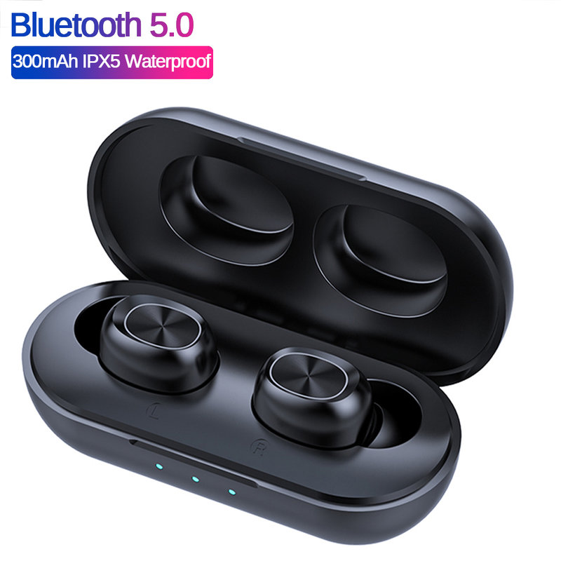 MyXL B5 TWS Bluetooth Draadloze Oortelefoon 5.0 Touch Control Oordopjes Waterdichte 9D Stereo Muziek Headset 300mAh Power Bank
