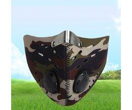 Outdoor Anti-dust Fietsen Gezichtsmasker Anti-vervuiling Luchtfilter Ademend Fietsen Wandelen Gezicht Maskers voor Mannen vrouwen