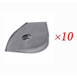 MyXL 10 stks/partij actieve kool masker filter PM2.5 anti-stof anti vervuiling 6 layer fiets fietsen maskers smog masker filter
