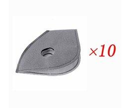 10 stks/partij actieve kool masker filter PM2.5 anti-stof anti vervuiling 6 layer fiets fietsen maskers smog masker filter