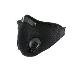 RUTVEING Fietsen Gezichtsmasker 3D Carbon Bike Masker stofdicht Winddicht Training Ademend Masker anti-stof Fietsen Gezicht masker Filter
