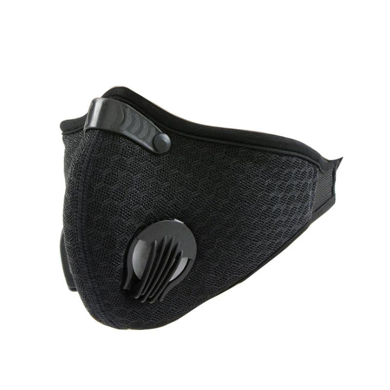 MyXL RUTVEING Fietsen Gezichtsmasker 3D Carbon Bike Masker stofdicht Winddicht Training Ademend Masker anti-stof Fietsen Gezicht masker Filter