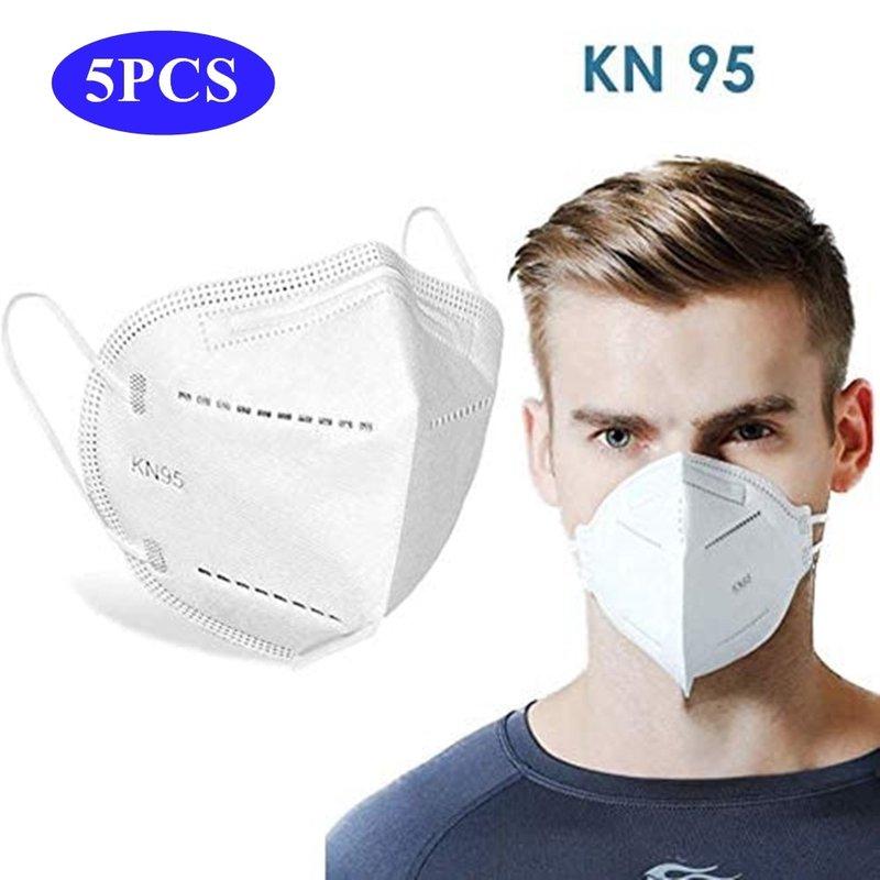 MyXL 5 Pcs Mondkapje KN95 Wegwerp PM2.5 Anti Vervuiling Masker Stof Bescherming Maskers Mond Moffel Allergie Astma Reizen N95 Masker