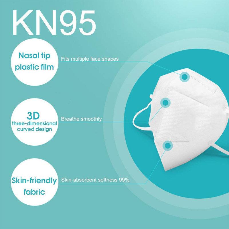 MyXL 10 Pcs Mondkapje KN95 Gezichtsmasker Wegwerp Anti PM2.5 Anti Deeltje Masker Ademend Stofdicht Mond Masker Functie Als N95 FFP3 Maskers