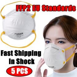 MyXL Mondkapje 5 Pcs Ffp2 Eu Beschermhoes Veiligheid Ademend Gezicht Mond Masker Stofdicht Geventileerde Bacteriën Luchtwegen KF94 N95 Mond masker